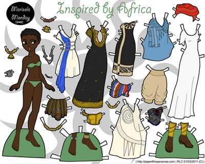 african american paper dolls | African Paperdoll