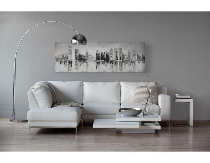 ADRIEN - Sectional Sofa Left - White
