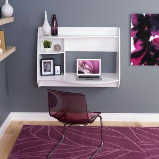 Winslow White Kurv Floating Desk - 18001475 - Overstock - Great Deals on Prepac Desks - Mobile