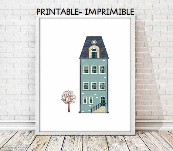 house print, vintage print, retro print, house vintage print, nursery decor, nursery print, wall art print, vintage decor, living room