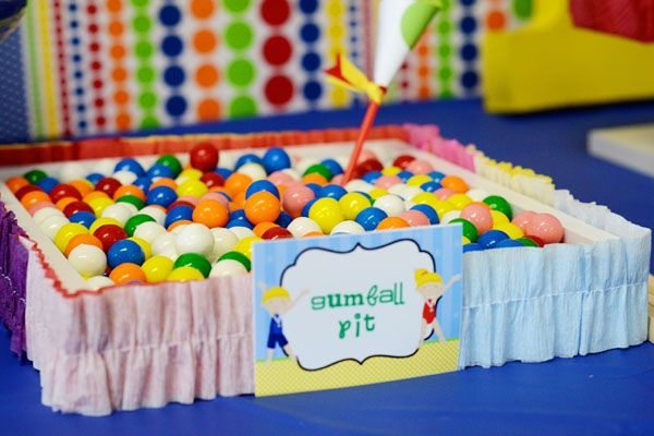 ball pit for gymnastics party