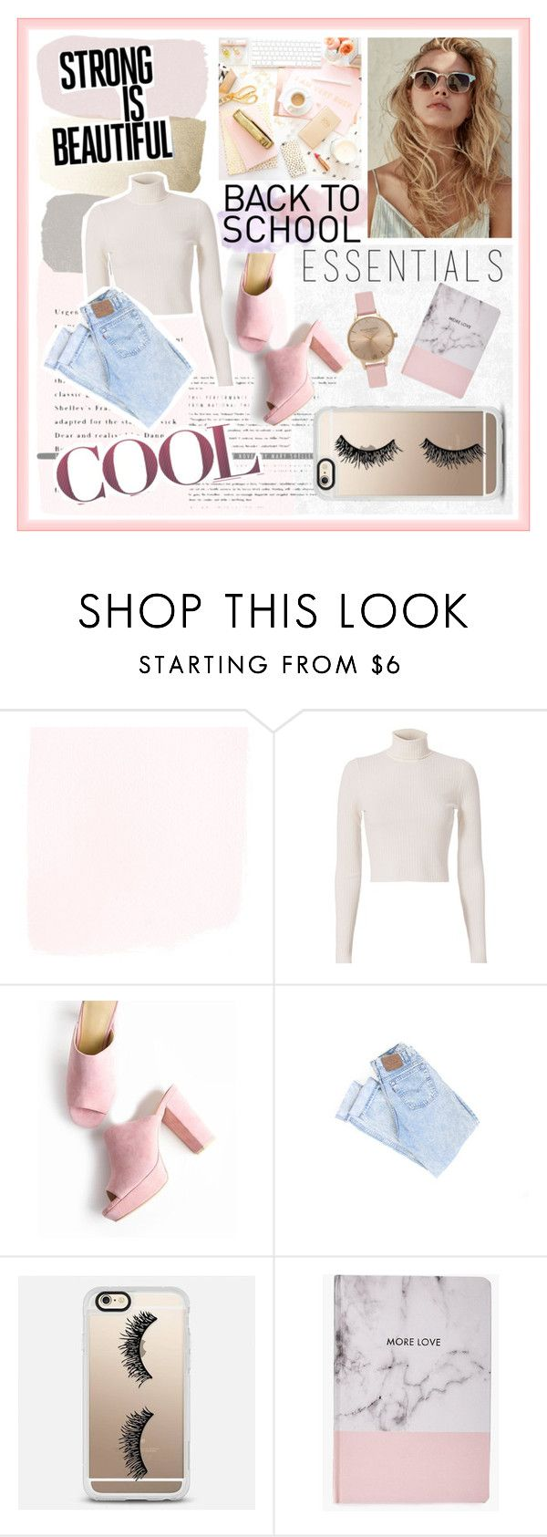 """""""Back to school"""" by sarabarlaup on Polyvore featuring A.L.C., Casetify, Boohoo and Topshop"""