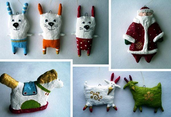 Елочные игрушки своими руками из подручных материалов: фото с новыми идеями