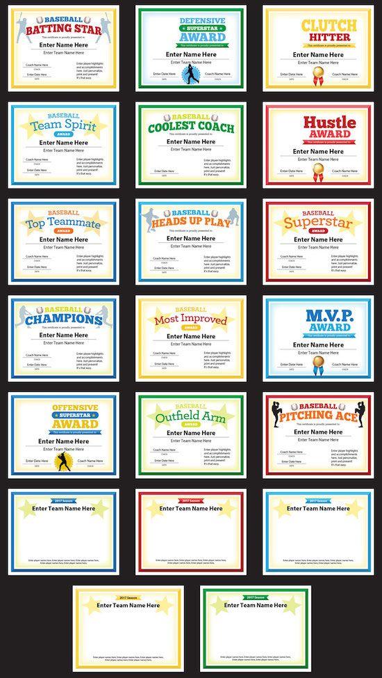 20 Baseball Photo Certificates Templates Award Certificates