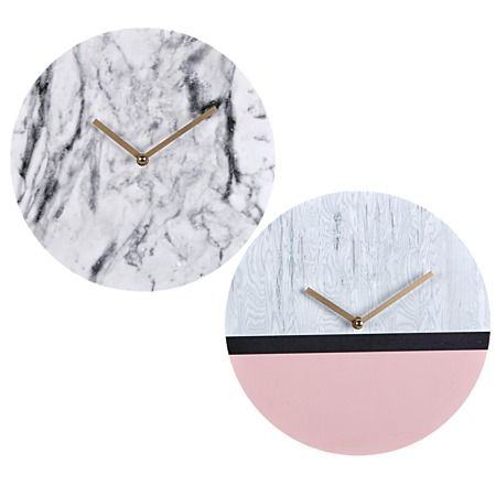 Marbled Wall Clocks Assorted 30cm x 30cm