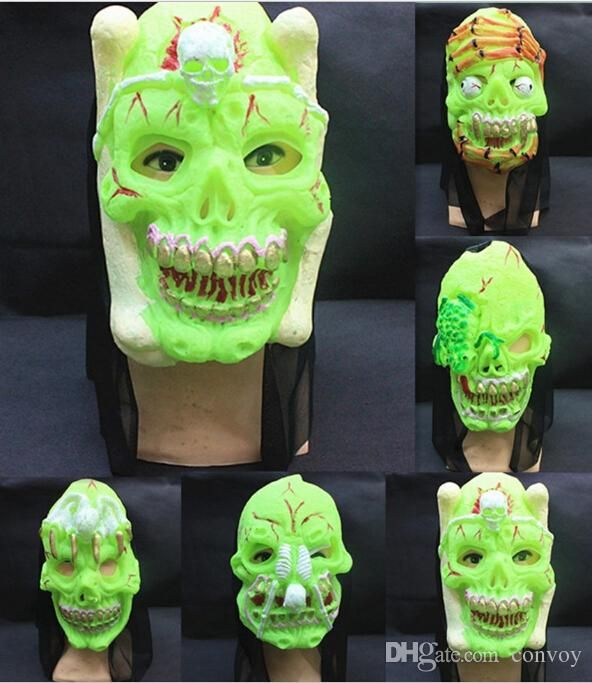 New Halloween Masks Latex Full Face Mask Party Masks Devil Horror Latex Green Night Lights Scary Horror Masks Halloween Volto Masks Hm93 From Convoy, $2.65   Dhgate.Com