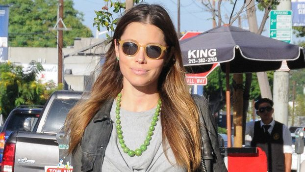 Jessica Biel is proof that looking stylish doesn't have to mean sacrificing comfort. On Wednesday, Mrs. Justin Timberlake and mom to 1-year-old son Silas was spotted out running errands in Los Angeles wearing the coolest gray jumpsuit. The lightweight cotton ensemble featured a knotted cutout right