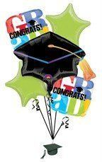 Graduation Balloon Bouquet Cap Party Mylar Decorating kit Class of 2012 by Anagram. $ 13.50. This listing is for a 5-piece Graduation party balloon