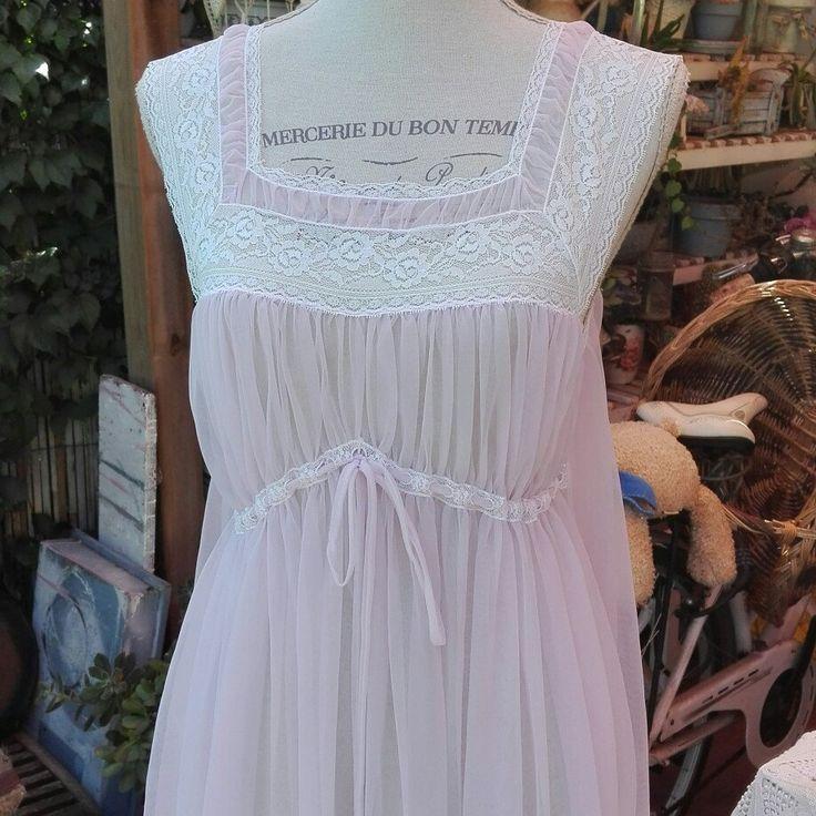 Camicia da notte shabby chic vintage rosa