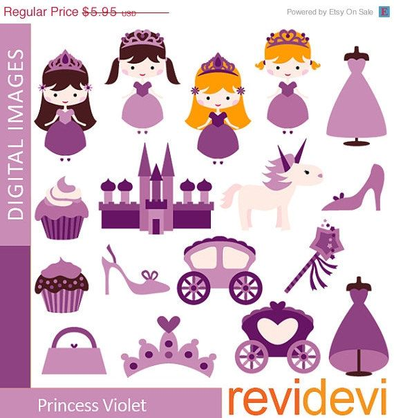 70 OFF SALE Princess in purple / girl castle carraige by revidevi