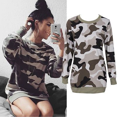 >> Click to Buy << Fashion Womens Ladies Loose Army Camouflage Sweatshirt Casual Clothes Blouse Top #Affiliate