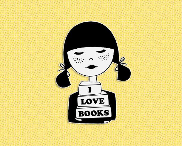 I love books brooch