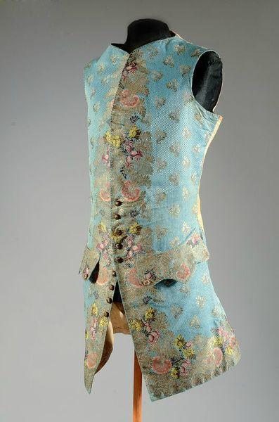brocaded waistcoat, Spitalfields, 1747-1748