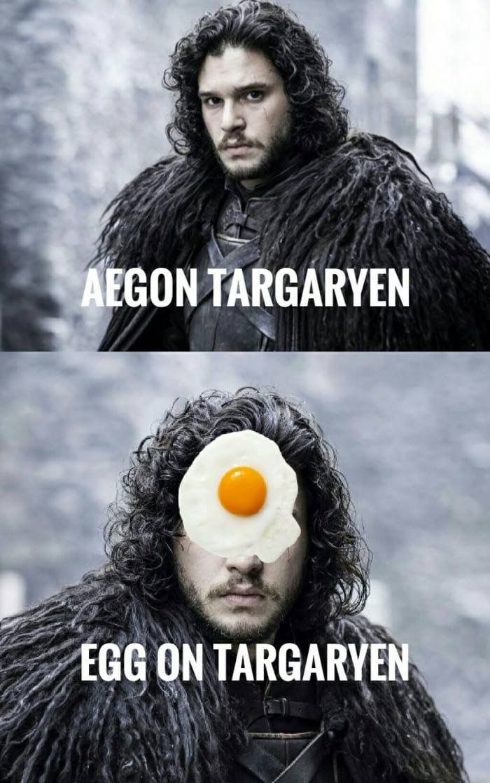 First he's a bastard, now he's Egg on Targaryen. Poor Jon! Game of Thron…