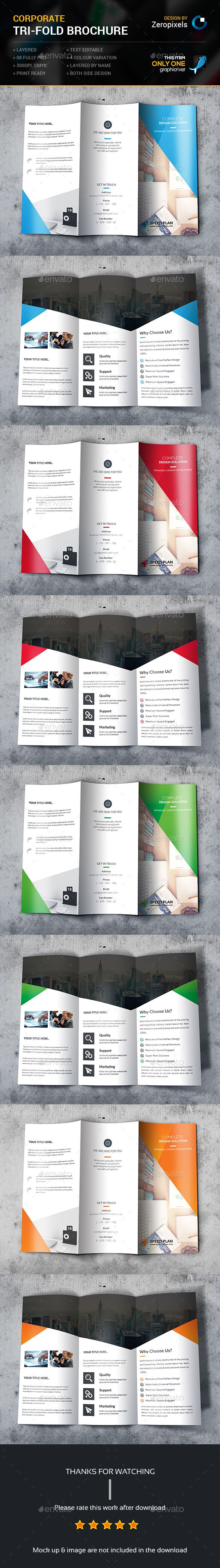 Corporate Business Tri-fold Brochure Template PSD. Download here: http://graphicriver.net/item/corporate-business-trifold-brochure/15277044?ref=ksioks
