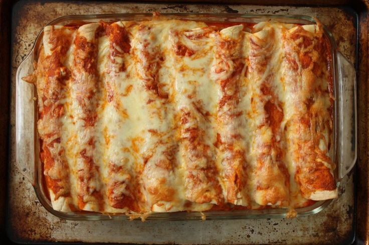 Pulled pork enchiladas - summer style. Dinner tonight!