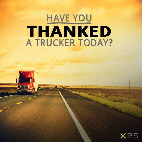 Have you thanked a trucker today? #thankyou #trucking
