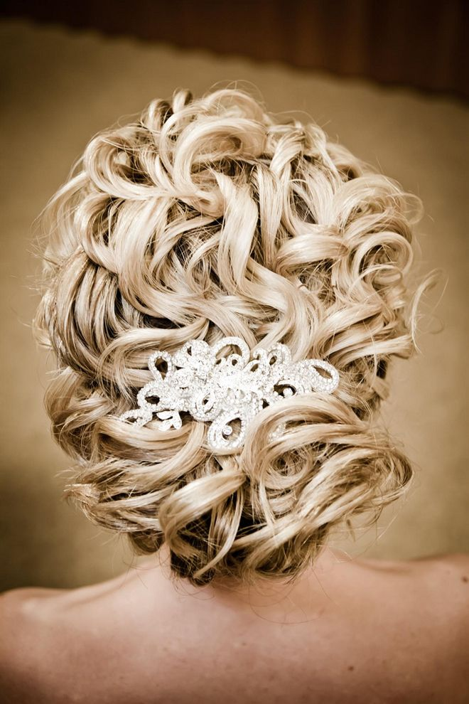 Wedding Hairstyle: loose curly updo