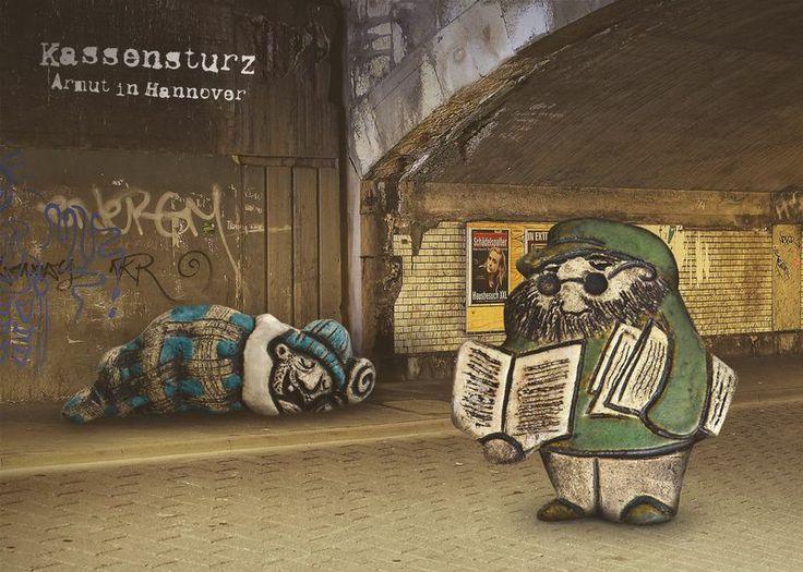 3er Set Künstler - Postkarten *Kassensturz*... von zeit-geister auf DaWanda.com