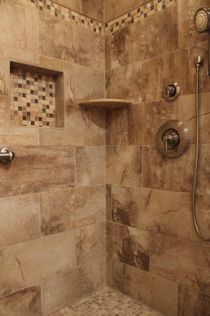 58 best shower images on pinterest for Earth tone bathroom ideas