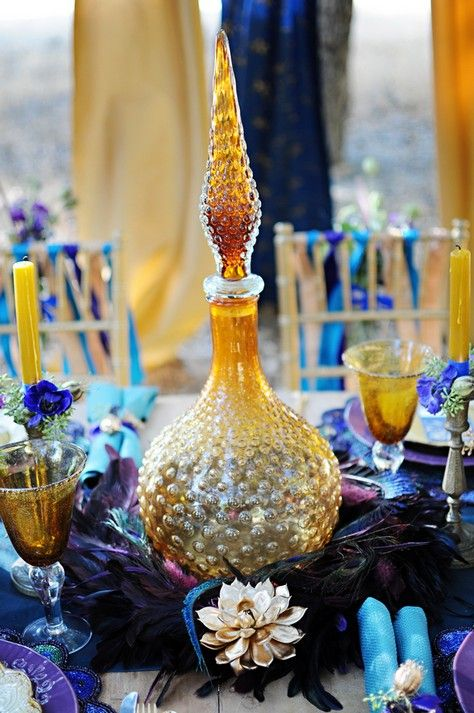 Egyptian Inspired Wedding: Purple, Turquoise and Gold