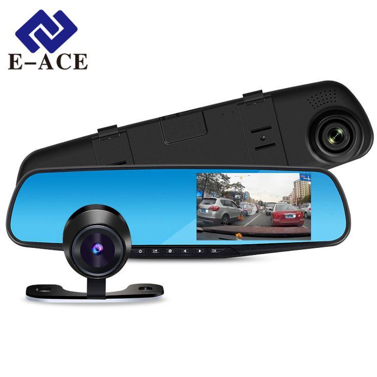 車dvr 1080 pデュアルレンズダッシュカメラミラーデジタルレコーダーでバックミラーカメラビデオレコーダービデオカメラ車レジストラ