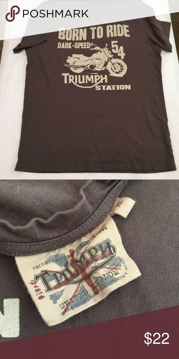 Men's Brown Triumph Motorcycles T-shirt XL Men's Brown Triumph T-shirt XL Triumph Shirts Tees - Short Sleeve