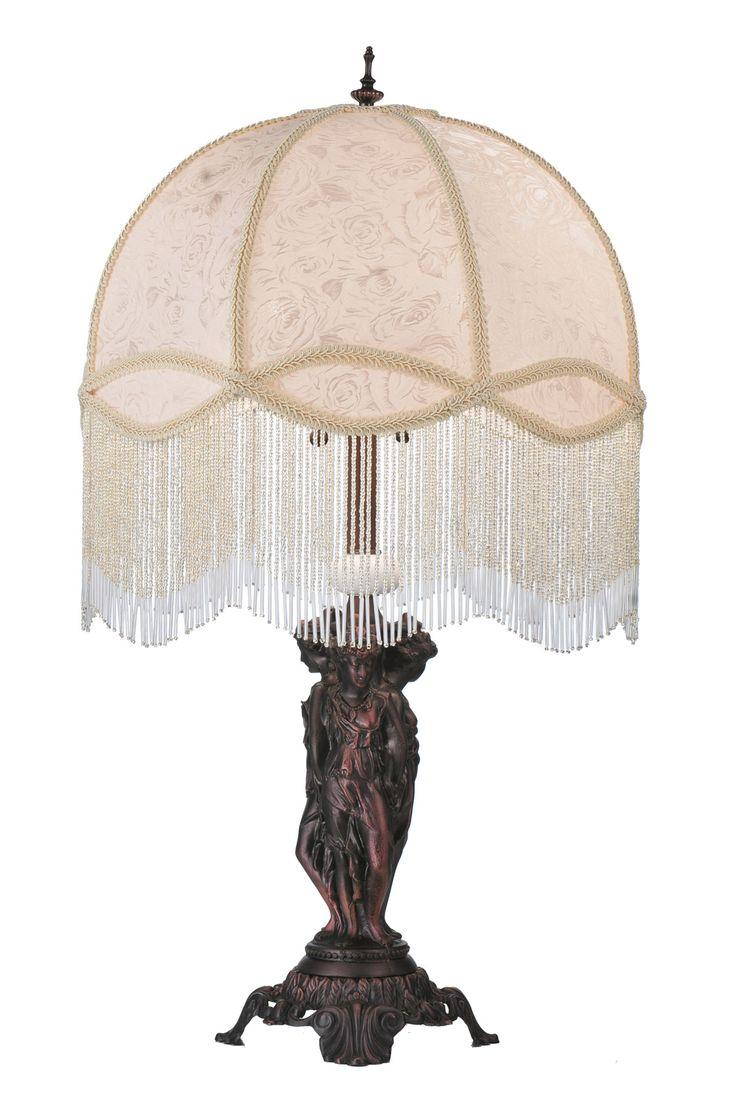 Victoriaanse lampen met franjes schaduw foto - 3