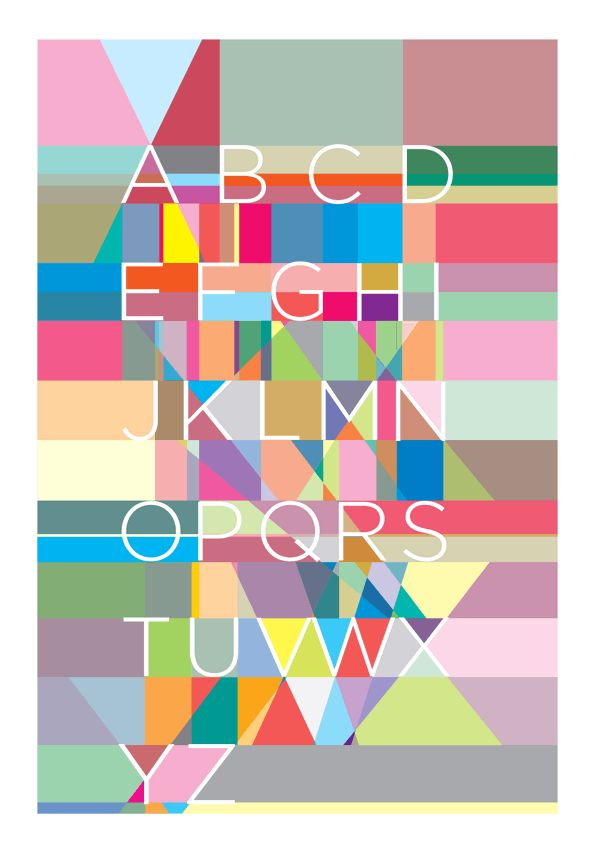 Alphabet poster from http://cargocollective.com/yoni/Alphabet-posters