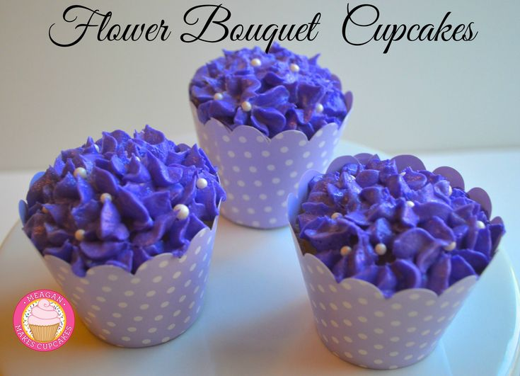 Flower Bouquet Cupcakes for Mother's Day