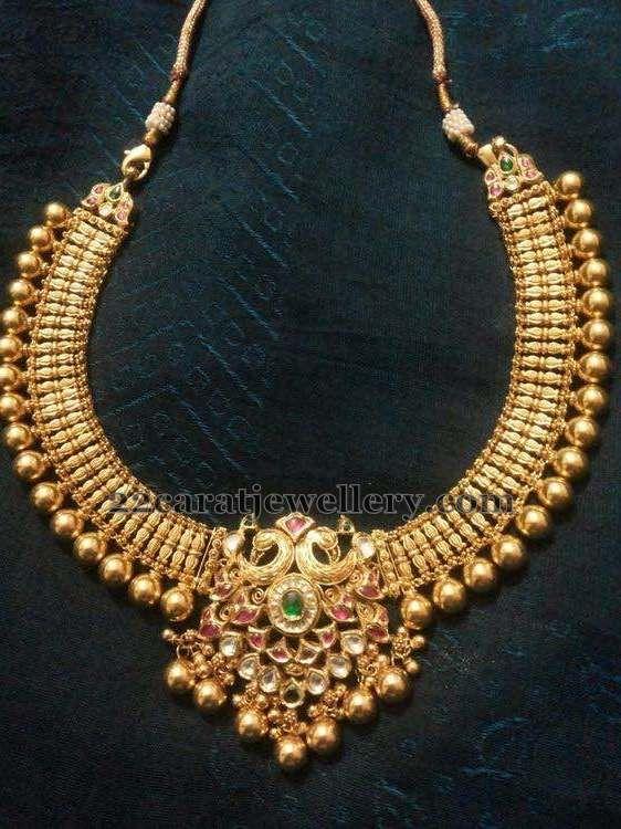 Tussi Kundan Set 80gms - Jewellery Designs