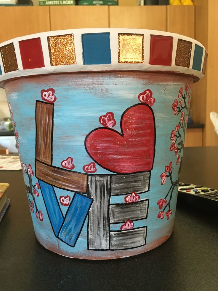 Painted pot