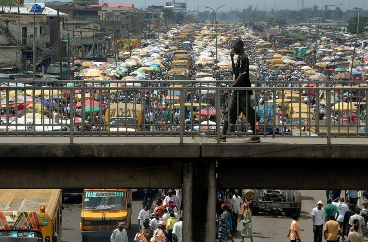 At 21 million people, Lagos has become Africa's largest city. It was only 1.4 million in 1970, so as you might imagine, traffic is tough.
