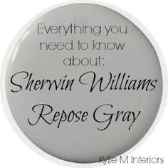 Learn all about Sherwin Williams Repose Gray in this paint color review. Underto... interior paint
