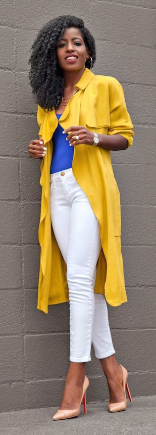 Yellow Trench Styling by Style Pantry // apart from the shoes this is a possibility!