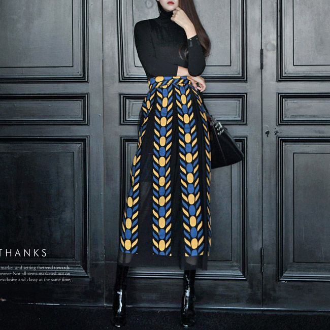 SK1225 Jeffrey Embroidered Skirt Mix