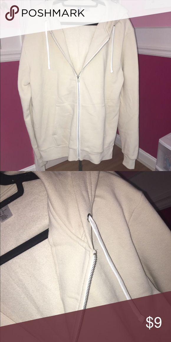 BRAND NEW Men's Cream Zipup Mens cream zip up hoodie from H&M BRAND NEW H&M Sweaters Zip Up