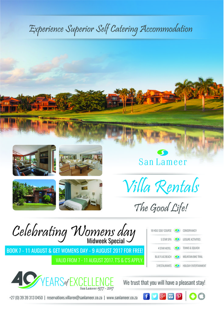 Show that incredible woman in your life how much she means to you by booking a midweek stay right here in one of our villas. #WomansDay