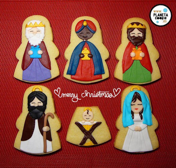 Un portal de Belén de galletas 2014-galletas