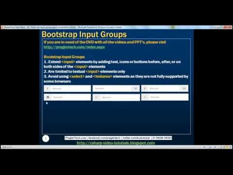 Bootstrap input groups Part 25