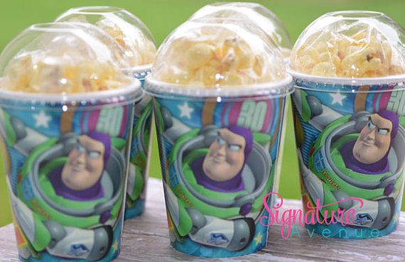Buzz Light Year Cups. Great For Pop Corn Cups