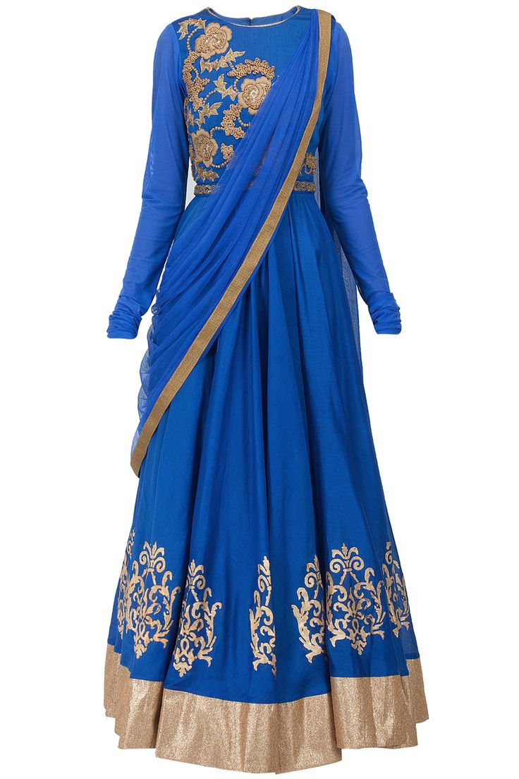 Blue dabka and thread embroidered kurta set J BY JANNAT. Shop the designer now at www.perniaspopups... #perniaspopupshop #jbyjannat #anarkalis #ethnic #designer #stunning #fashion #amazing #fabulous #indian #musthave #happyshopping