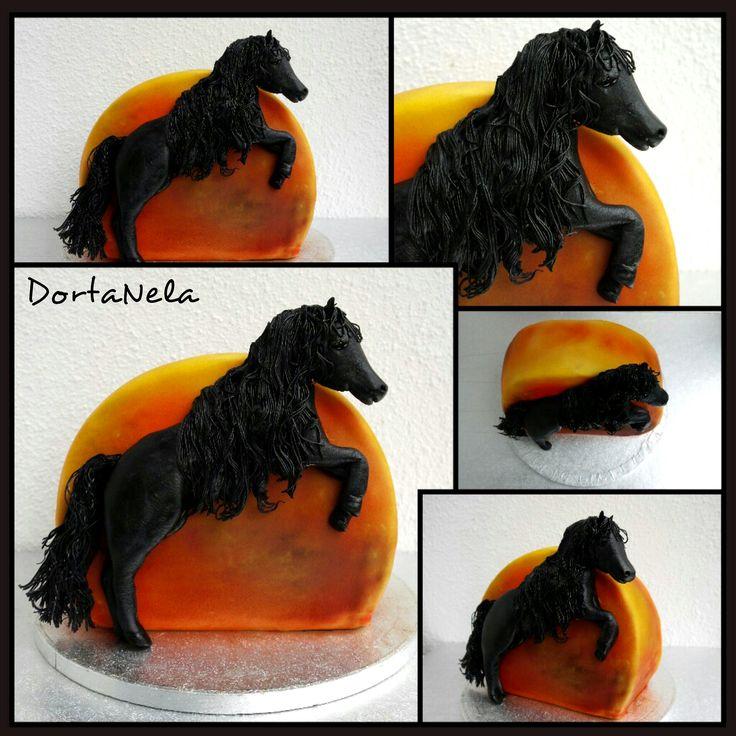 HORSE IN SUNSET (Kůň při západu slunce)