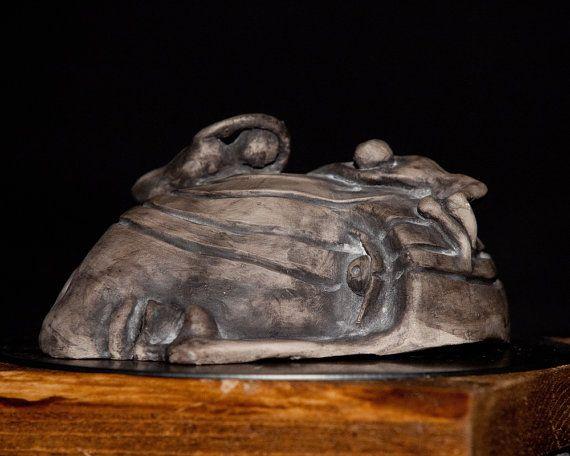 Handmade Ceramic Sculpture Clay Art Unique Half by Artgalleryraka
