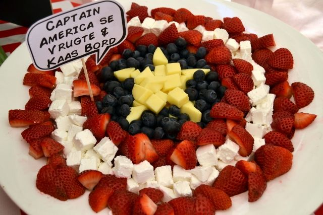 Captain America's Shield Cheese & Fruit Platter