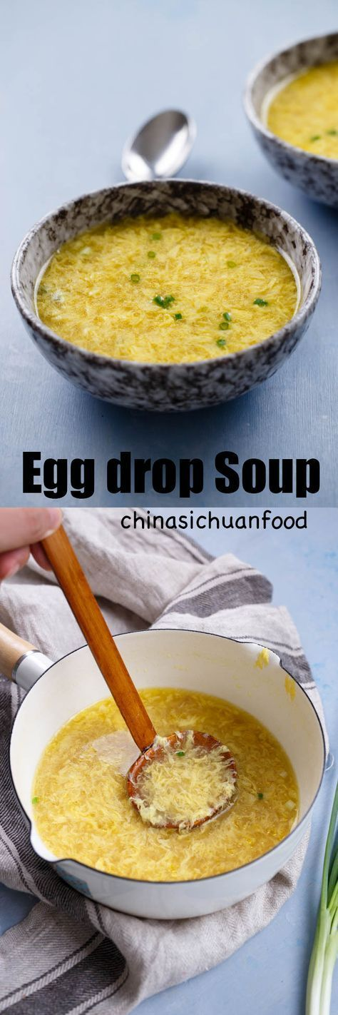 beautiful Chinese egg drop soup