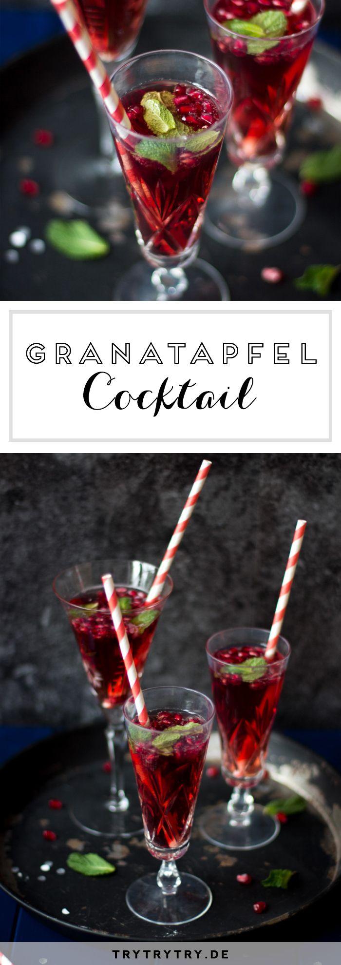 Etwas besonderes für Festtage: Granatapfel Cocktail