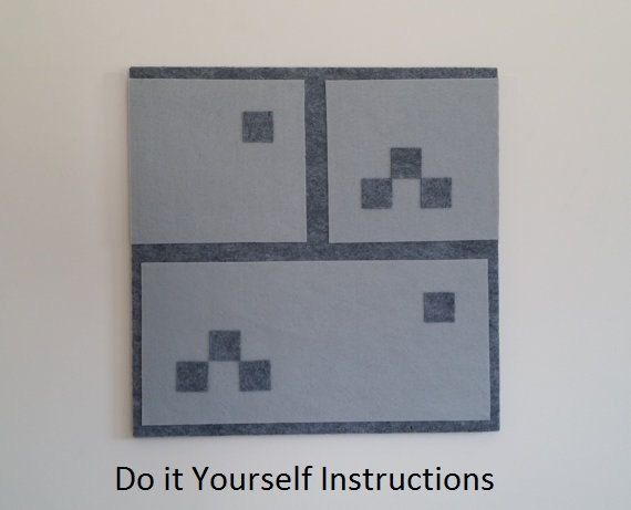 Do it yourself minecraft inspired castle wall block for Do it yourself wall decor