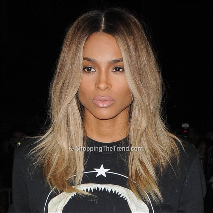 Ciara blonde hair at Givenchy show - Paris Fashion Week - want this color/cut