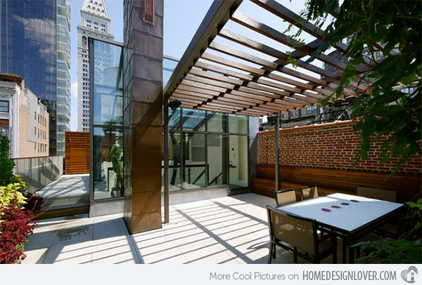 We would say that this space indeed have the modern touches because of the sleek straight lines it used even for the pergola.